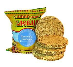 хлебцы Самарские -- пшенично-пшённые