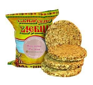 хлебцы Самарские -- пшенично-рисовые